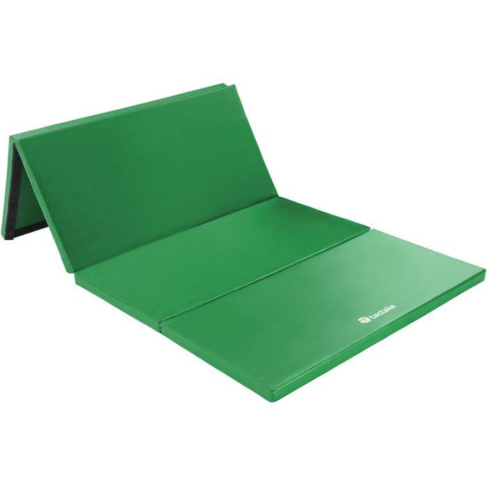 TECTACKE Tapis de Gym Tapis de Sol Tapis de Fitness Tapis de Yoga Pliable 240 x 120 x 5 cm Vert