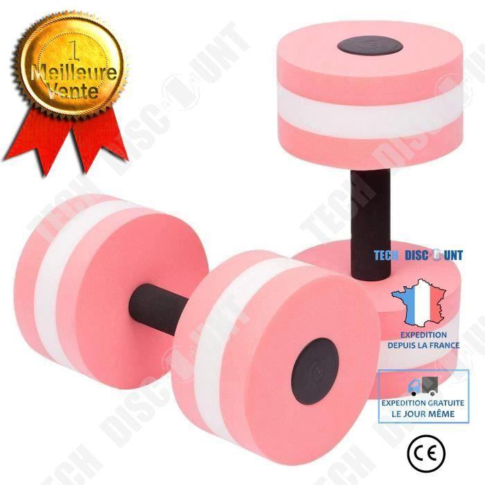TD® 1 paire d'haltères pour AquaFitness / Haltères en mousse EVA main Piscine Résistance exercice Piscine/ Rose et Noir / Sport