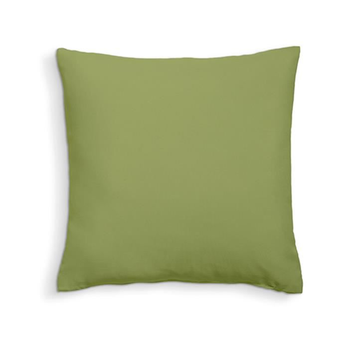 TODAY Coussin déhoussable 100% coton - 60 x 60 cm - Bambou