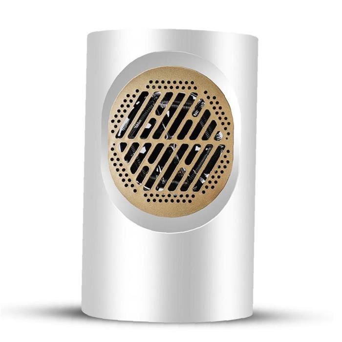 Mini chauffage électrique de chauffage rapide de chauffage à chaud pour le bureau de la chambre de bureau intérieur (White UE)