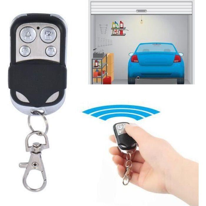Télécommande Universel Clonage Portail Electrique Garage Ouvre-Porte Fob 433mhz Remplacement Porte Clé