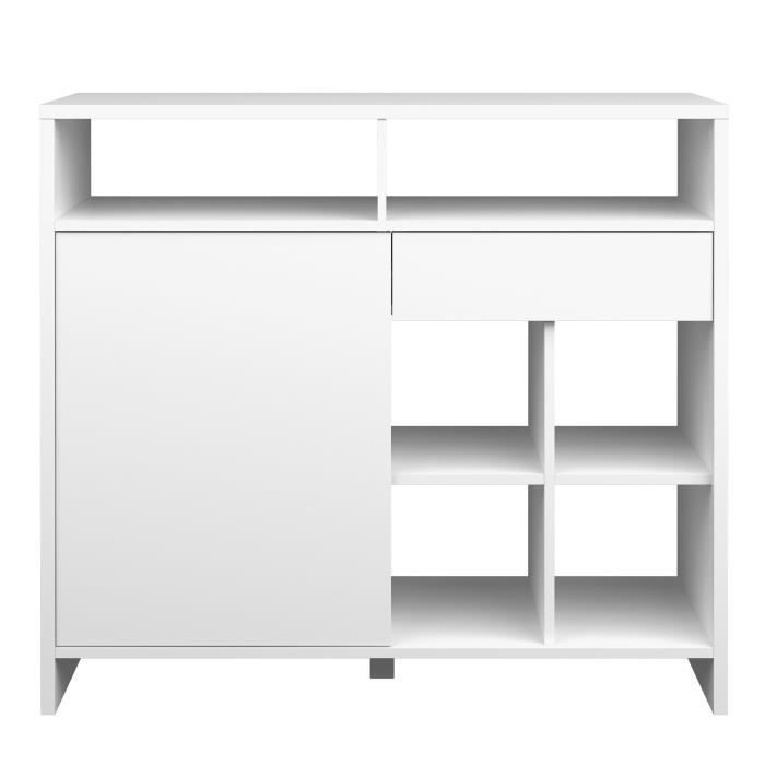 maja snack bar blanc laqu achat vente meuble bar maja snack bar blanc laqu cdiscount. Black Bedroom Furniture Sets. Home Design Ideas