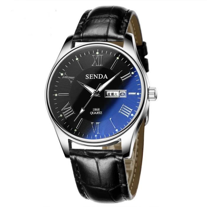 senda montres montres hommes montre top luxe montre bracelet famille horloge montre quartz. Black Bedroom Furniture Sets. Home Design Ideas