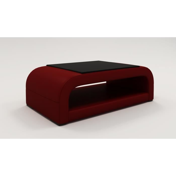 Table basse design rouge nelly achat vente table basse table basse design - Table basse design rouge ...