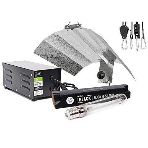 LUMii Numérique Noir Kit 600 W Grow Light Hydroponique Lampe Ballast Réflecteur