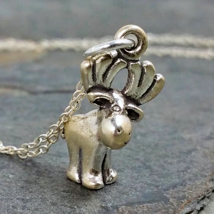Craze Collier Moose Mignon - Argent 925