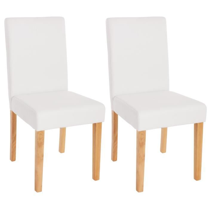 2 chaises de salle manger similicuir blanc mat achat. Black Bedroom Furniture Sets. Home Design Ideas