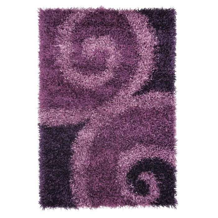 tapis shaggy a poils long vallee violet 200x30 achat. Black Bedroom Furniture Sets. Home Design Ideas