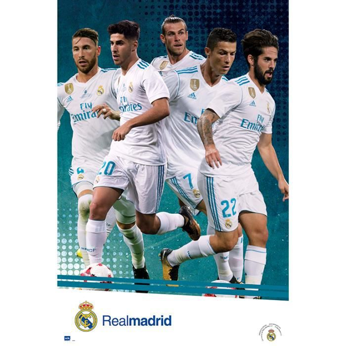 poster real madrid achat vente poster real madrid pas. Black Bedroom Furniture Sets. Home Design Ideas