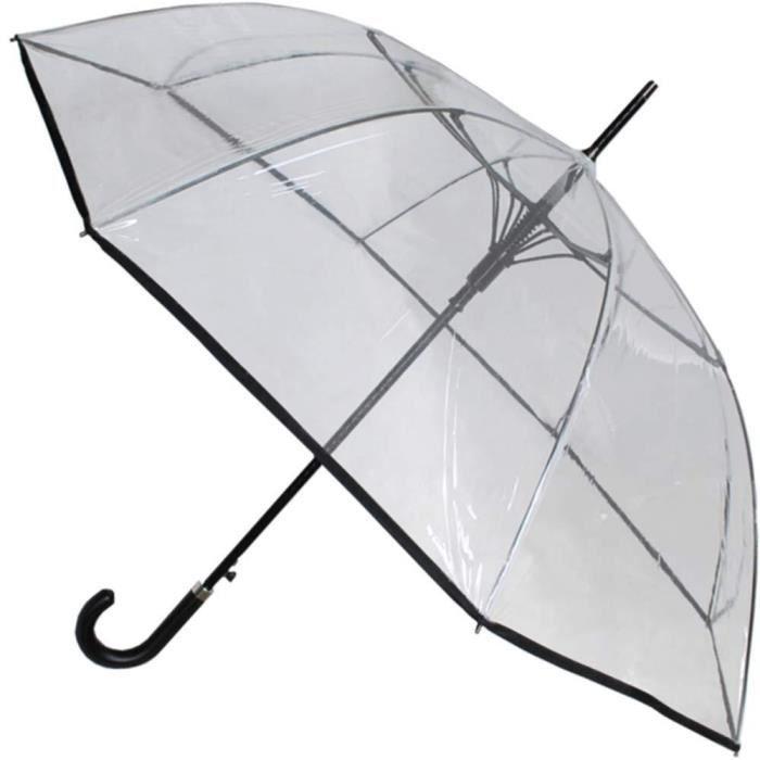 Parapluie Canne TR/ÈS Robuste 95KPH Ouverture Automatique COLLAR AND CUFFS LONDON Bleu Toile a/ér/ée Cadre Renforc/é avec Fibre de Verre Poign/ée en Bois Vented Double Couche