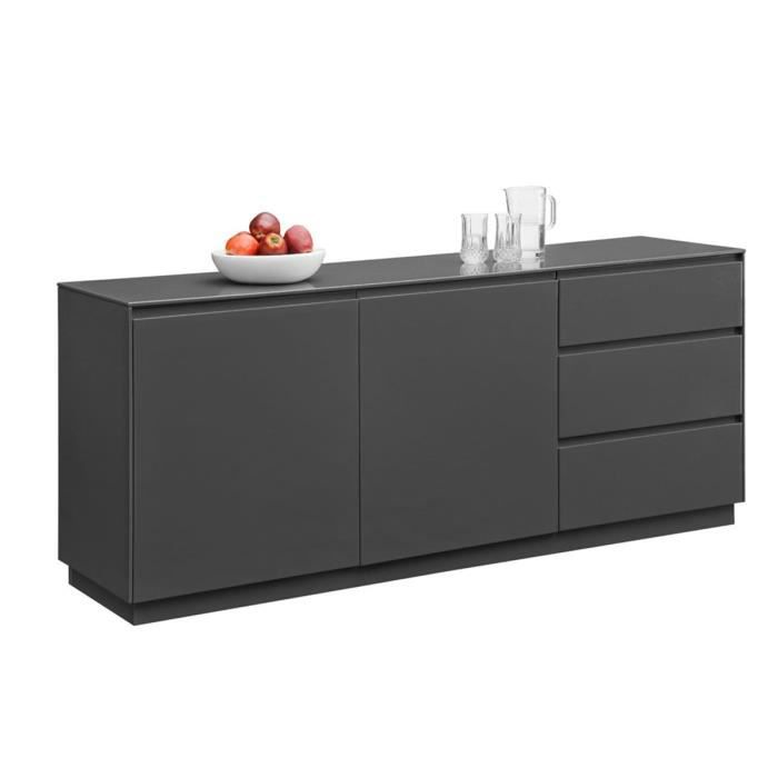 buffet gris 2 portes 3 tiroirs chelsea achat vente buffet bahut buffet gris 2 portes 3. Black Bedroom Furniture Sets. Home Design Ideas