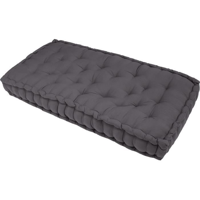 matelas de sol gris 120x60x15 cm achat vente coussin cdiscount. Black Bedroom Furniture Sets. Home Design Ideas