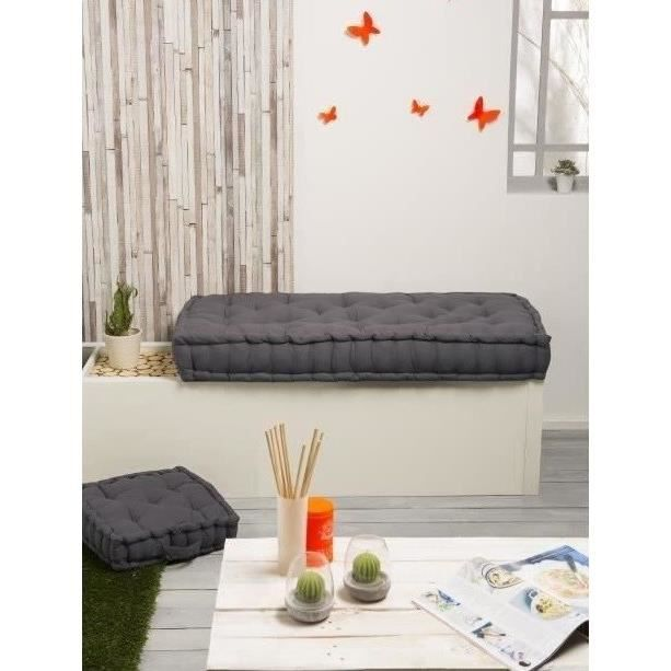 finlandek matelas de sol banquette j ms 100 coton gris 60x120x15 cm achat vente coussin. Black Bedroom Furniture Sets. Home Design Ideas