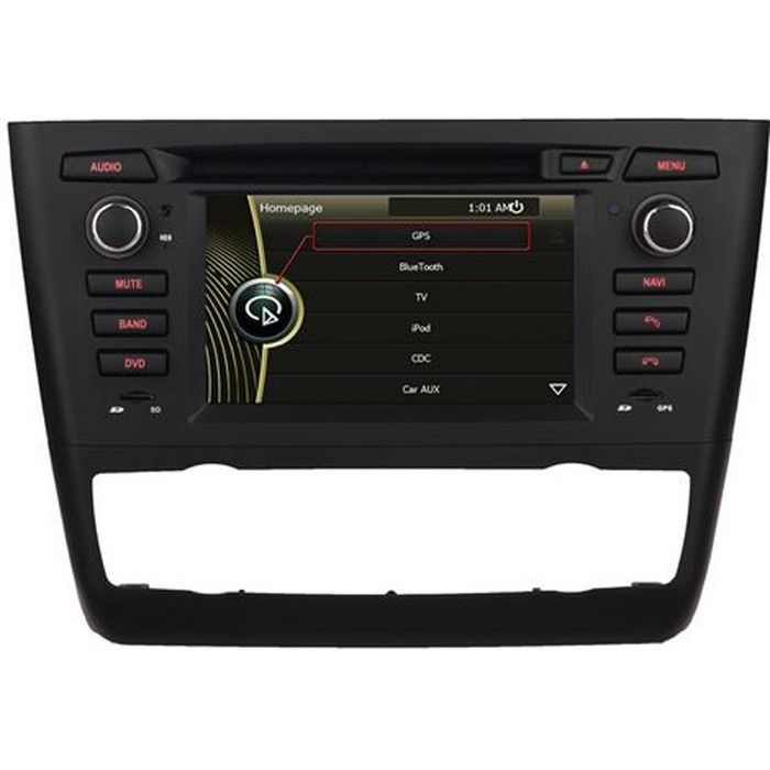 autoradio dvd gps usb cran tactile bmw s rie 1 achat vente autoradio autoradio gps bmw. Black Bedroom Furniture Sets. Home Design Ideas