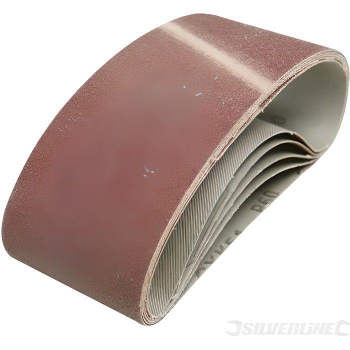 75 mm x 533 mm, grain 40 Lot de 10 bandes abrasives en tissu