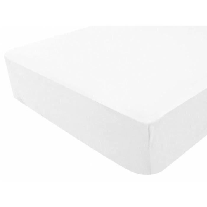 PROTÈGE MATELAS  Protège matelas imperméable GENTIANE 90x190 blanc.
