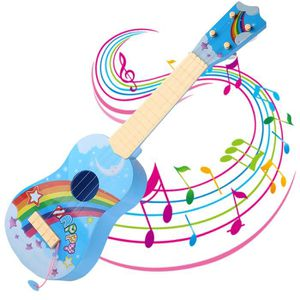INSTRUMENT DE MUSIQUE Dessin animé 4 cordes Mini guitare enfants instrum