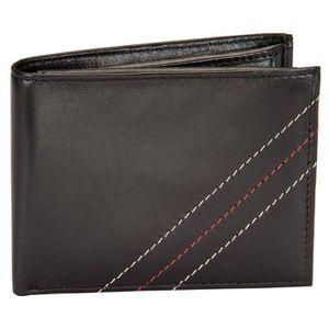 PORTE MONNAIE Porte-monnaie en cuir noir hommes - Bifold élégant