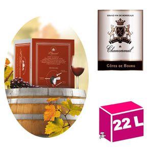 VIN ROUGE CUBI 22L AOC Côtes de Bourg 2015 Chamvermeil