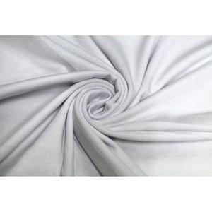 TISSU Tissu Jersey Coton Blanc -Coupon de 3 mètres