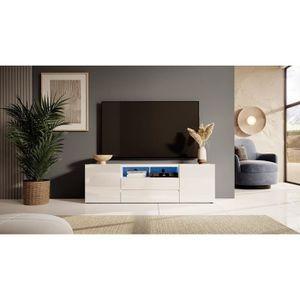 MEUBLE TV Meuble TV / Meuble de salon - BROS - 137 cm - blan