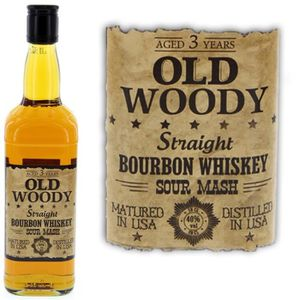 WHISKY BOURBON SCOTCH Old Woody  Straight Bourbon 3 ans