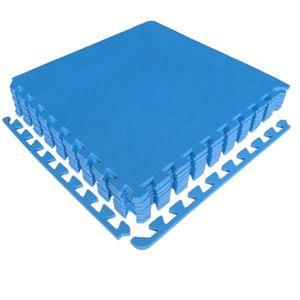 TAPIS DE SOL FITNESS Tapis puzzle set de 8 dalles 50x50x1 cm bleu