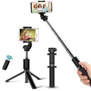 PERCHE - CANNE SELFIE Perche Selfie Bluetooth, Selfie Stick Trépied Mono