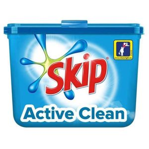 LESSIVE Skip Active Clean 32 Capsules (lot de 2)