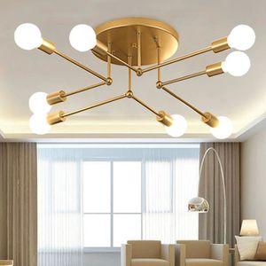 LUSTRE ET SUSPENSION TEMPSA Plafonnier Lustre Led Lampe Industrielle Mo