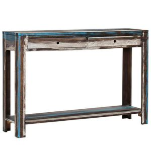 FAUTEUIL vidaXL Table console Bois massif Vintage 118 x 30