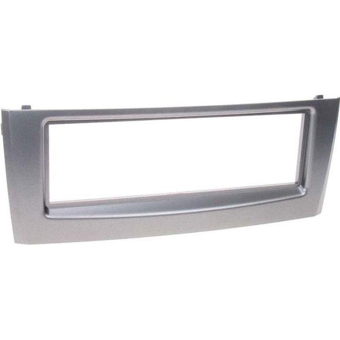 Adaptateur de façade 1-DIN Fiat Grande Punto/Linea anthr. metallic