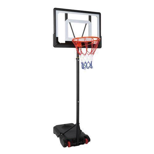 Panier de Basket réglable hauteur de 1.2m-2.1m avec Roulettes et Pied pour Enfant-Adulte