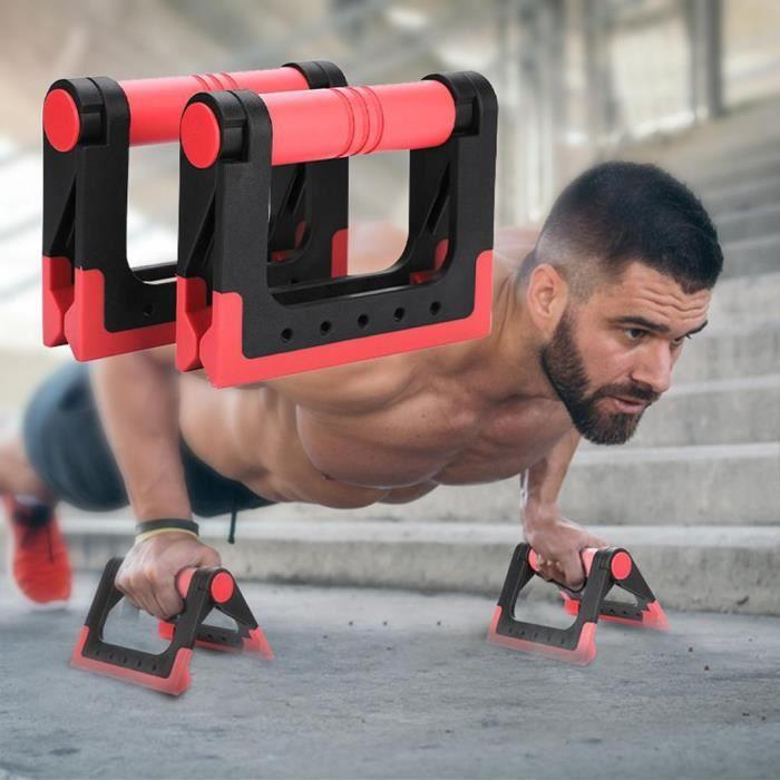2 pièces Pliant Push-Up Stand Gym Push Up Musculation Support pour Pompes Poignée Antidérapante pour Femmes - ZOAMFWZDA07295
