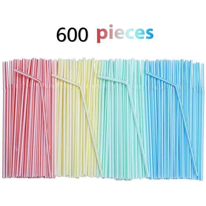 Jetables Pailles Flexibles en Pailles Pailles Colorées pailles jetables en plastique pour les fêtes magasins pailles à la maison