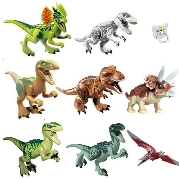 8Pcs Dinosaure Building Blocks Jurassic World dinosaure Miniature figurines Dinosaures Jouet Dinosaure Les Blocs de Construction