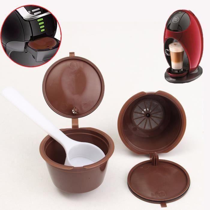 2pcs Café Capsule Cup Réutilisable Filtre pour Nespresso DOLCE GUSTO Cafetière FR32846