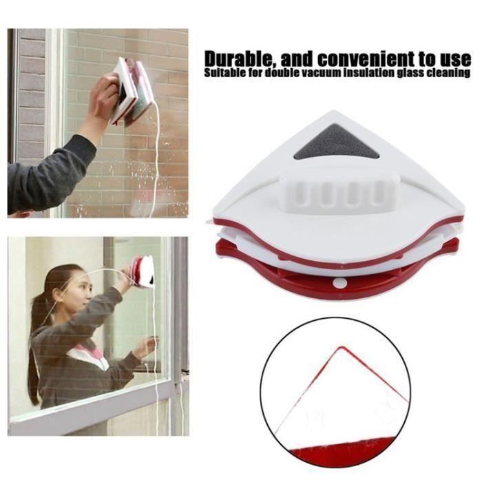 Lave vitre nettoyage double-face essuie vitre brosse de vitre magnétique 15-24mm ALes0109-16E23890