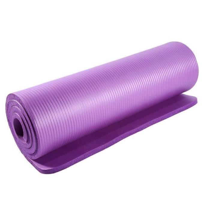SE28329-Tapis de Yoga Tapis de Gym Tapis de Fitness Tapis de Yoga 183 * 61 * 1.5cm Violet