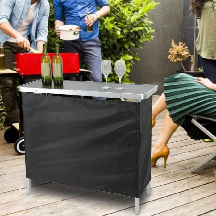 Table de bar portable Table de rangement pliante polyvalente Meubles pour salon de fête articles de fête