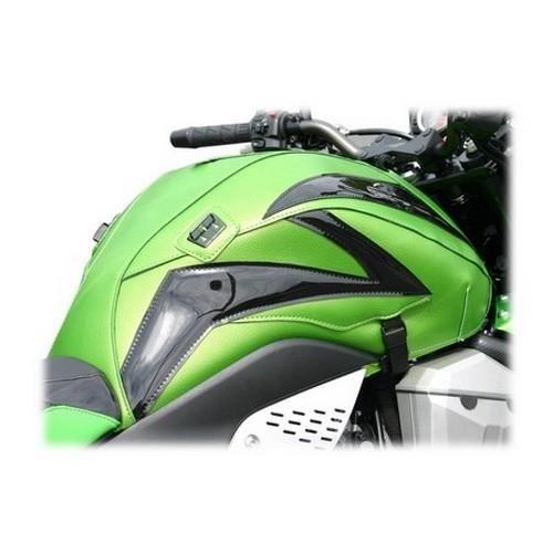 Tapis de réservoir Bagster vert nacre/deco noir brillant (1545LB) Kawasaki Z750 (série spéciale Bagster)