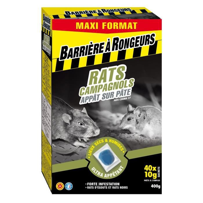 BARRIERE A INSECTES - Rats campagnols appât PAE 400g