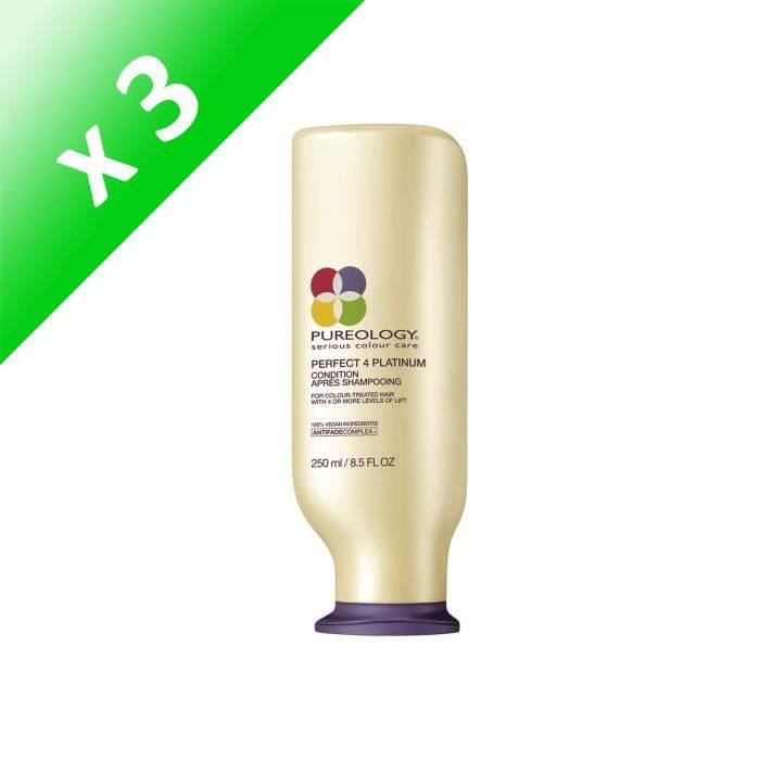 Pureology Conditioner Perfect 4 Platinium 250 ml (Lot de 3)