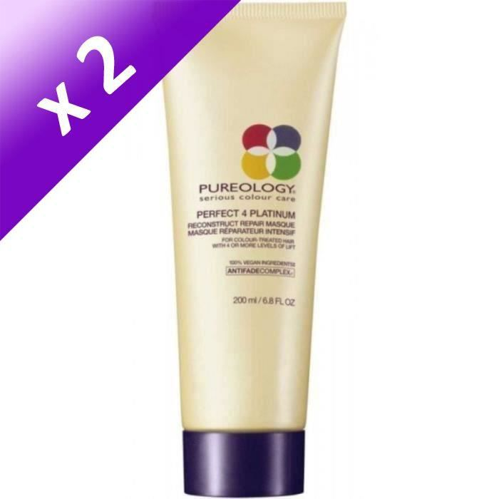 Pureology Masque Perfect 4 Platinium - 200 ml (Lot de 2)