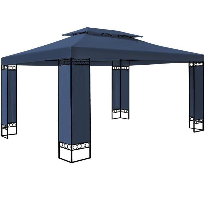 Tonnelle de jardin ELDA - 3x4m - Pavillon - Bleu