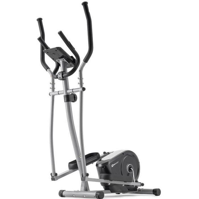 HS HOP-SPORT Vélo elliptique HS-2050C Cosmo -Nordic Walking – résistance magnétique 9kg - Poids Max 100 kg -Ordinateur (Argenté)
