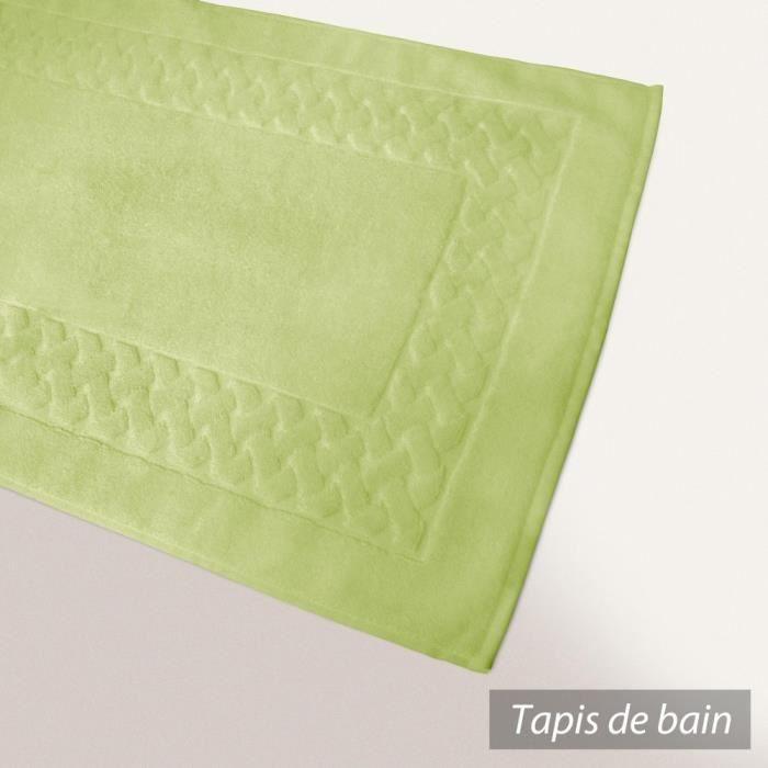 Tapis de bain 50x80 cm ROYAL CRESENT Vert Pastel  850 g/m2