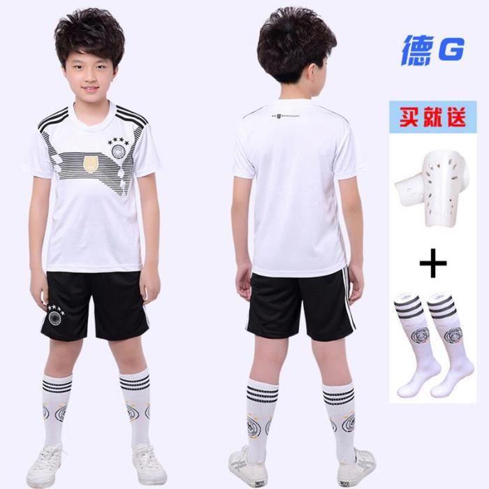 2018 Coupe du monde Allemagne équipe de football Enfants Suit Maillot de Football Tops + Shorts