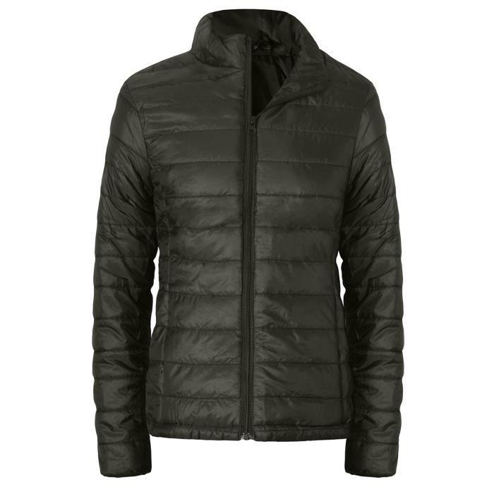 Sweat-shirt femme fermetures à glissière Slim Zipper manches longues Bomber manteau chaud hauts Vert