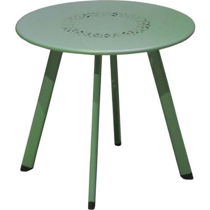 Table basse de jardin en métal Massai 40 cm Vert